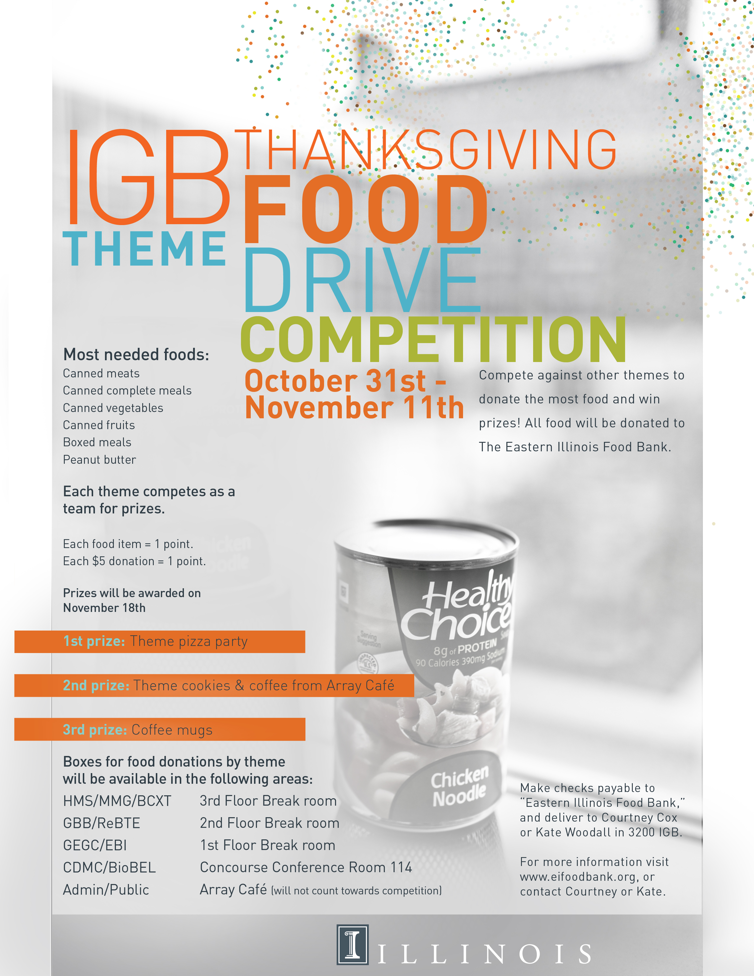 IGB Theme Thanksgiving Food Drive Competition