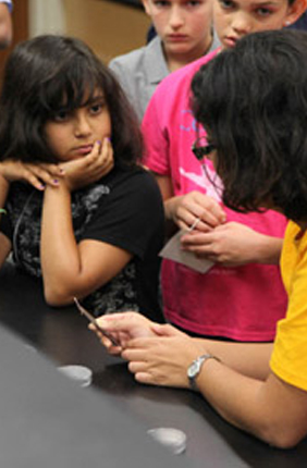 Middle school girls learned that pollen does a lot more than help flowers reproduce at Pollen Power Camp!, a weeklong summer camp hosted by the Institute for Genomic Biology.