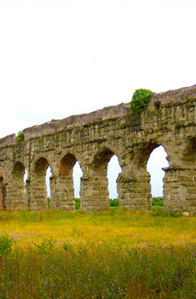 The aqueducts of Roma Vecchia delivered water from the Apennines into Imperial Rome.