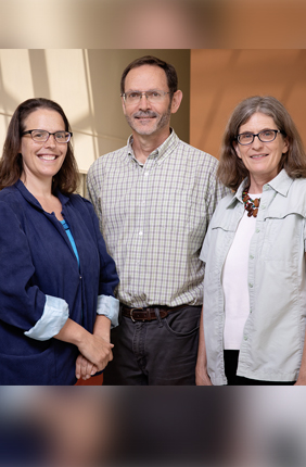 U. of I. researchers identified the factors most closely associated with a countrys risk of experiencing an outbreak of chikungunya or dengue.  In a study of 50 years of data relating to chikungunya and dengue outbreaks around Indian Ocean regions, a U. of I. team including, from left, Rebecca Lee Smith, William Marshall Brown and Marilyn O'Hara Ruiz identified the factors most closely associated with a country's risk of experiencing an outbreak. Smith and Ruiz are pathobiology professors; Brown is GIS lab
