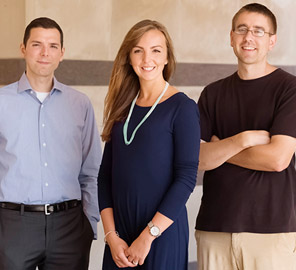 Psychology professor Aron Barbey (left) with colleagues conducted a new study linking blood levels of a key nutrient to brain structure and cognition in older adults.