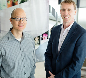 Chemistry professor Paul Hergenrother and veterinary clinical medicine professor Timothy Fan tested an anti-cancer compound in pet dogs now being used in human clinical trials.