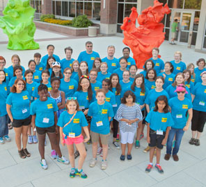 Twenty-six girls from around East Central Illinois participated in the second year of IGB's week-long science day camp, Pollen Power!