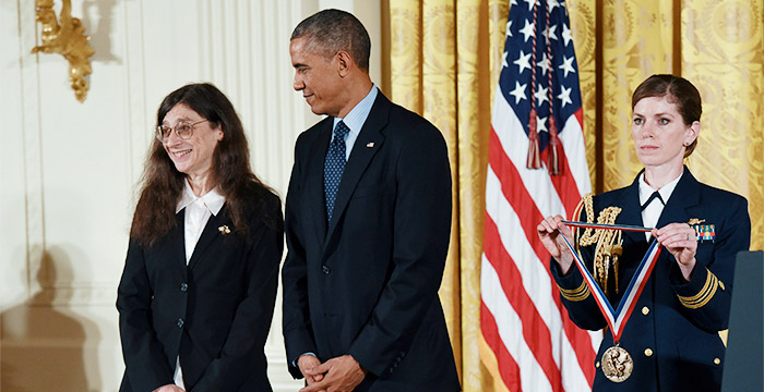 May Berenbaum with President Barack Obama.