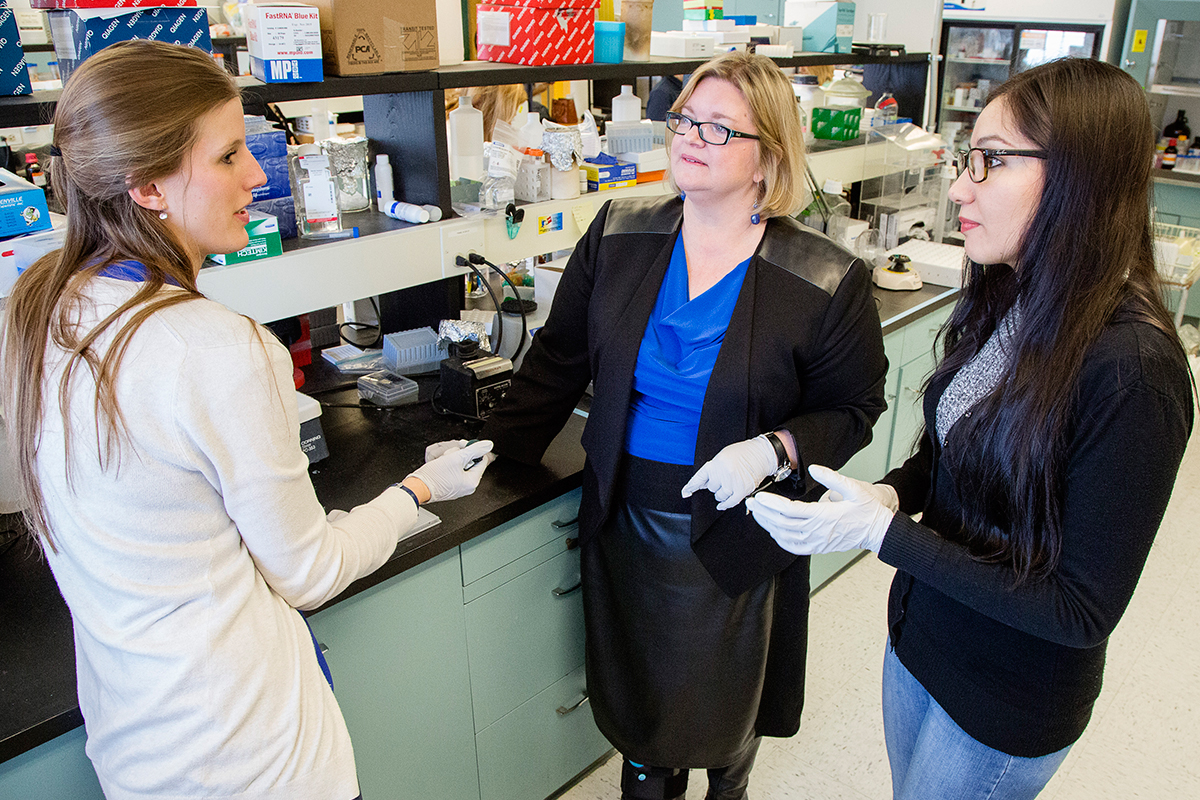 University of Illinois food science and human nutrition professor Sharon Donovan, center, is among 70 new members elected to the National Academy of Medicine.