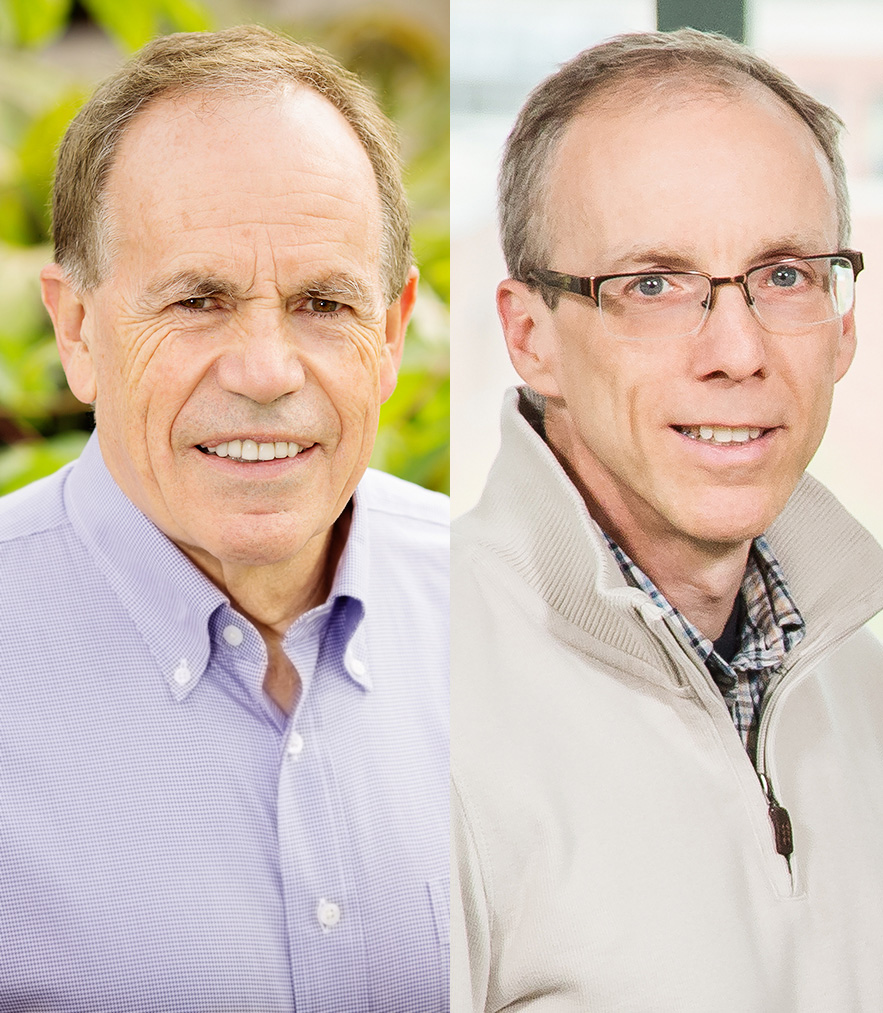 Stephen P. Long and Jeffrey S. Moore were named Stanley O. Ikenberry Endowed Chairs