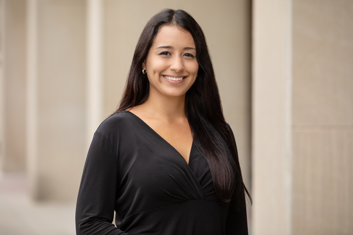 With her colleagues, graduate student Patricia Cintora examined how women with infants up to 18 months old respond to intimate partner violence.