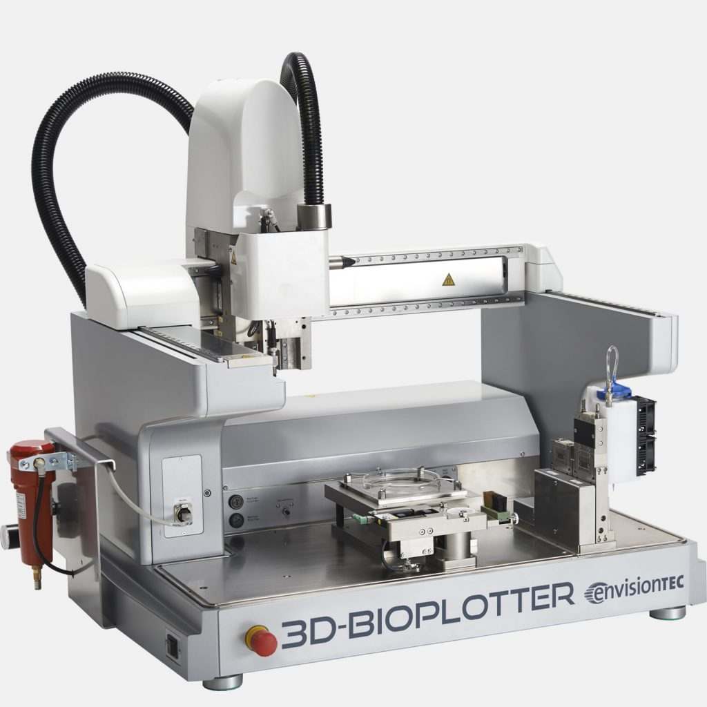 The 3D-Bioplotter Series is designed for research groups new to the field of tissue engineering, and was awarded as part of a Major Research Instrumentation grant.